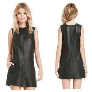 BB Dakota Marius Black Faux Leather Dress